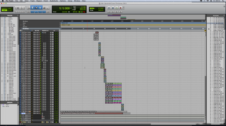 Pro Tools HD Edit Window